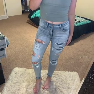 ❌sold❌American Eagle High-waisted Icy Repair